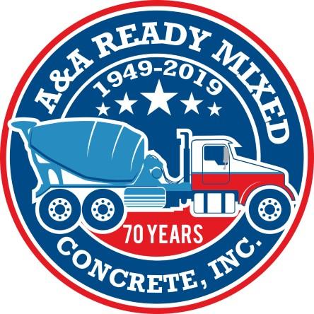 A&A Ready Mixed Logo 70 Years